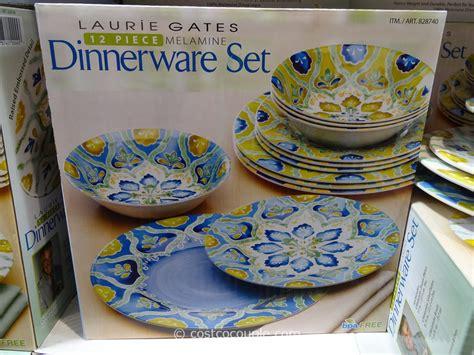 melamine dinnerware laurie gates piece costco