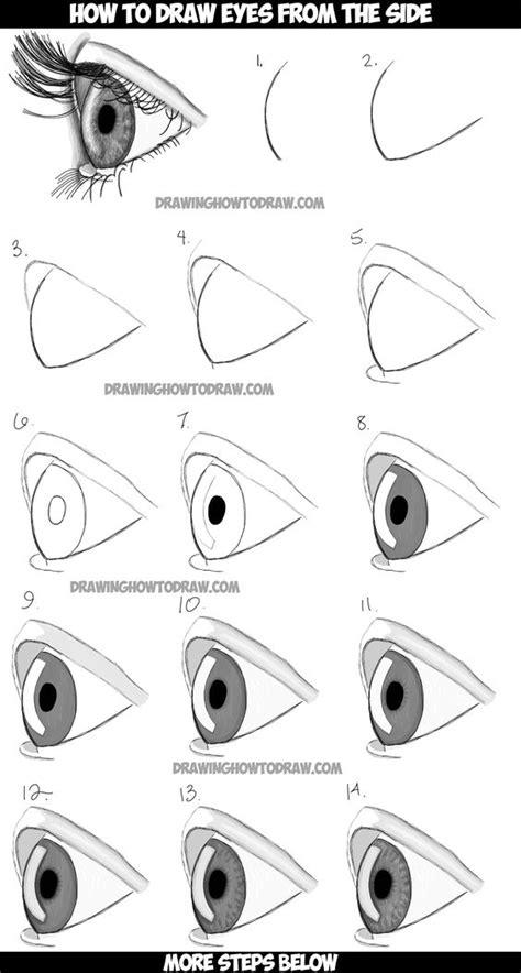 Como dibujar un ojo de forma facil paso a paso con varios