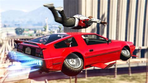Crazy Flying Car Skydive Stunt!