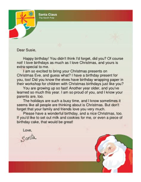 letter  santa  christmas birthday