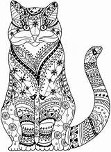 Coloring Pages Animal Mandala Cat Animals Adult Henna Cats Books Colouring Sheets Result Pencils Colored Printable Google Kitten Medium Visit sketch template