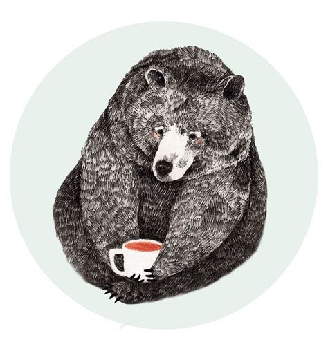 Are you searching for bear coffee png images or vector? Pin by Chuck Terrell on Coffee | Bear illustration, Bear ...