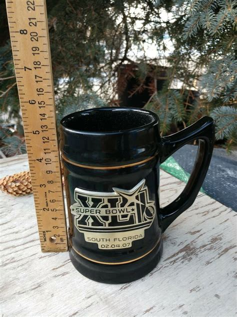 2007 Super Bowl Xli Official 6 Black Mug Stein Colts Vs