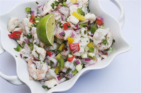 what is ceviche shrimp and grouper fiesta ceviche the pescetarian and the pig