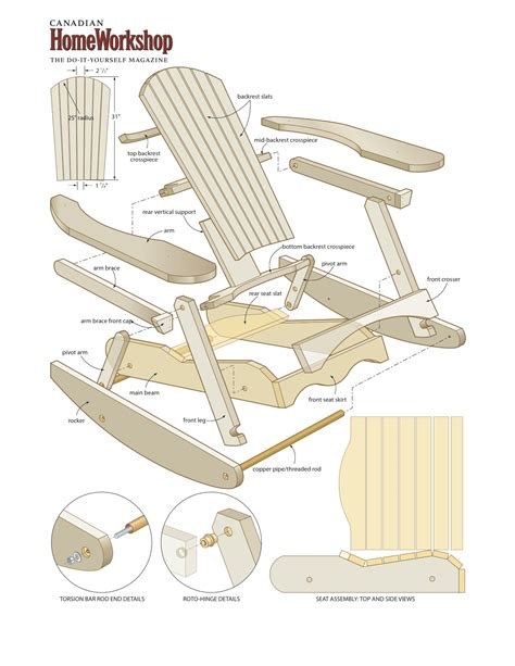 diy outdoor chaise wood adirondack rocking chair plan pdf plans