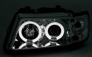 Audi A3 Phase 2 : 2 feux phare avant angel eyes a led pour audi a3 8l phase ~ Medecine-chirurgie-esthetiques.com Avis de Voitures