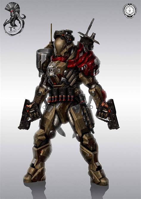 soldiers spartan futuristic weapons armor digital art ...