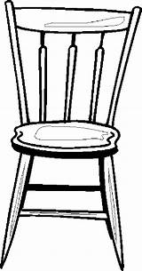 Chair Coloring Furniture Pages sketch template