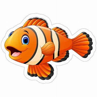 Fish Clown Sticker Stickers Decals Cool Clipart