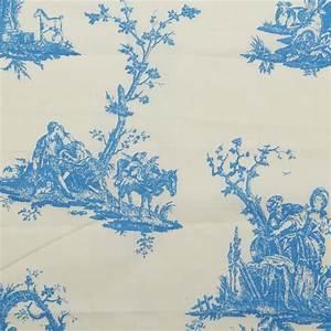 Toile De Jouy : 100 cotton toile de jouy linen muslin canvas french scene print cloth fabric ebay ~ Teatrodelosmanantiales.com Idées de Décoration