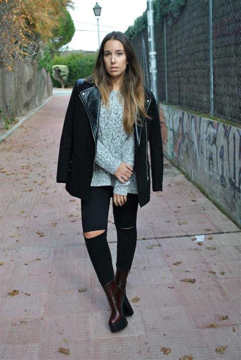 25 Looks Con Jeans Negros Gastados | Cut u0026 Paste u2013 Blog de Moda
