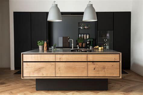 Une cuisine noir u bois with cuisine noir bois