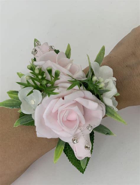 artificial wedding prom wrist corsage bracelet greenery