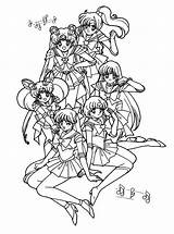 Sailor Moon Coloring Pages Sheets Sailormoon Printable Disney Games Anime Picgifs Colouring Adult Scouts Jupiter Song Theme Books Birthday Sailors sketch template