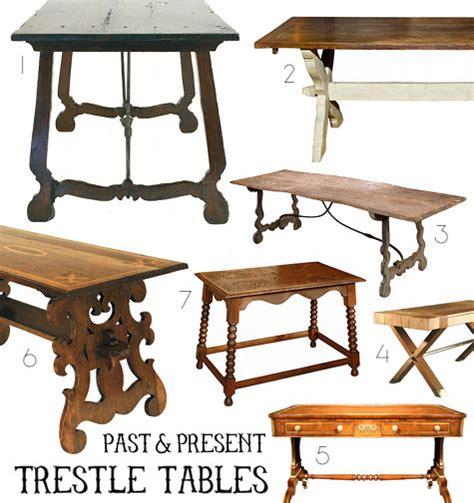 past present trestle tables design sponge