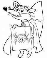 Dora Coloring Swiper Colouring Topcoloringpages Fox Holding Children sketch template