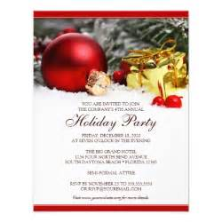corporate holiday party invitation template 4 25 quot x 5 5 quot invitation card zazzle