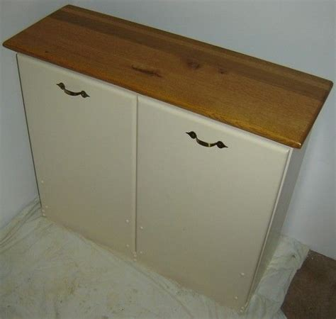 Custom Made New Solid Maple Wood Double Kitchen Garbage