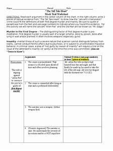 Mock Trial Worksheet Tell Tale Heart