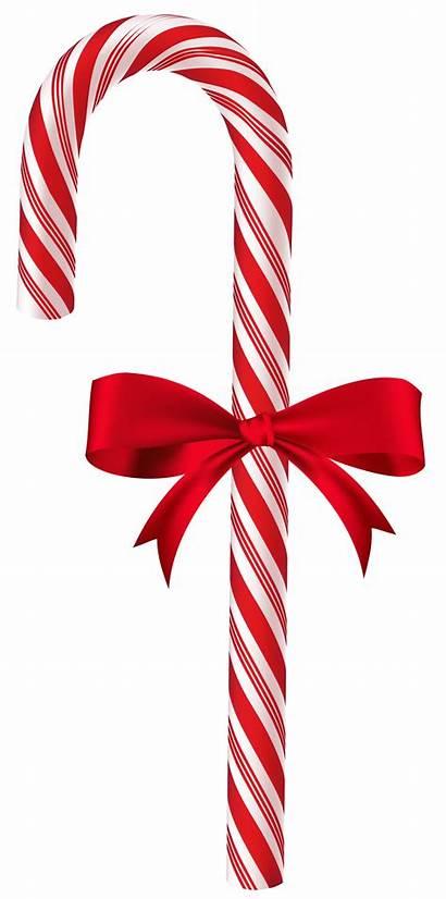 Cane Candy Transparent Christmas Clip Clipart Bow