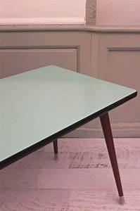 Table Pieds Compas : slavia vintage mobilier vintage table pieds compas des ann es 60 blue lagoon ~ Teatrodelosmanantiales.com Idées de Décoration