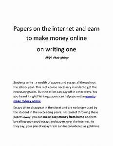 make money writing essays online