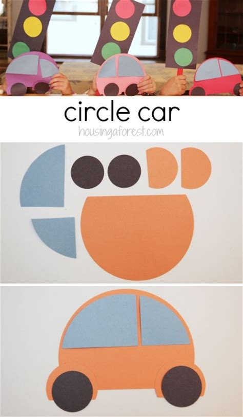 how to make a circle car housing a forest 494 | Preschool Transportation Theme How to make a circle car 3