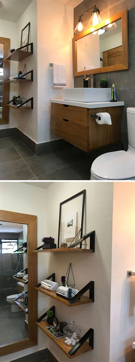 Before & After  This 90's Bathroom Was Given An Updated