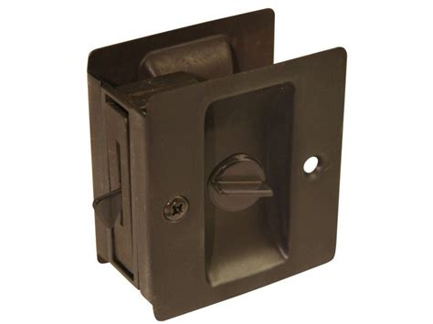 ultra  oil rubbed bronze privacy pocket door lock