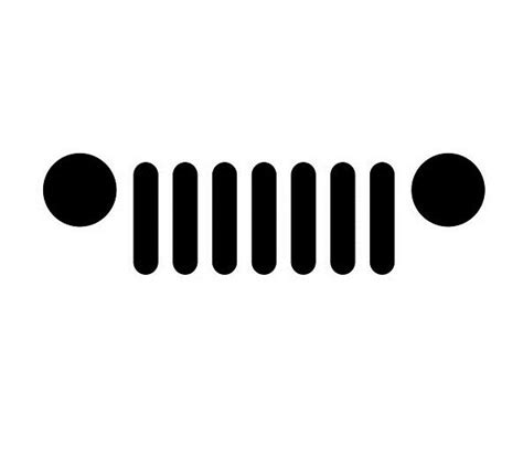 jeep front logo minimal jeep grill vinyl decal oracal logo symbol car