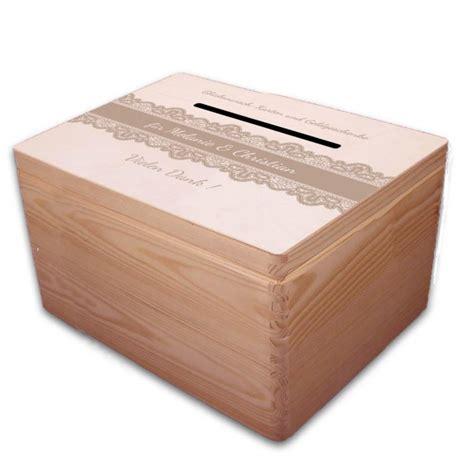 Große Holzbox Geschenkbox Zur Hochzeit Briefbox