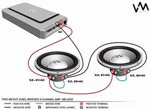 Two 4 Ohm Dvc Subs  Bridged 2
