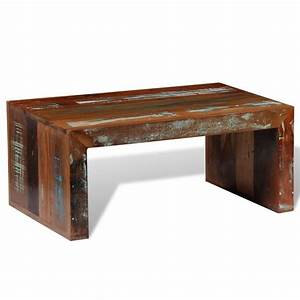 antique style reclaimed wood coffee table vidaxlcouk With antique style coffee tables