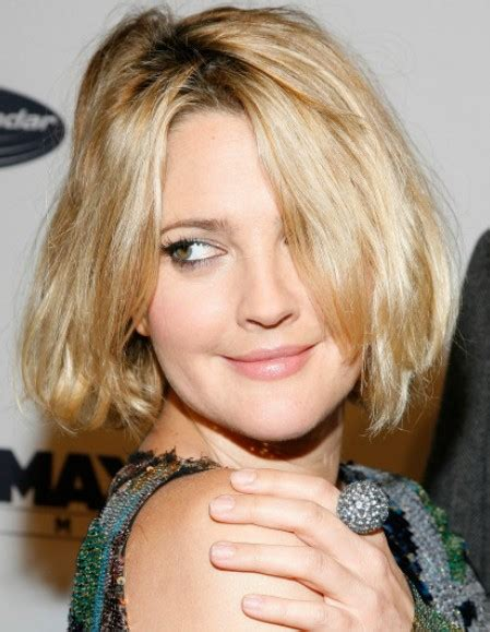 drew barrymore hair styles hairstyle ideas layered bob cut for thick 2529
