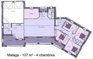 plan maison plain pied en l avec garage