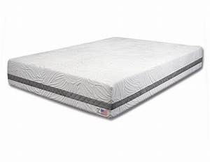 Full size 11quot gel infused memory foam mattress non flip for Best non foam mattress
