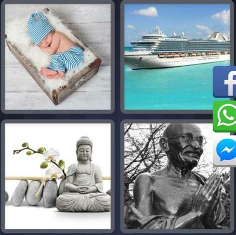 Un Barco 4 Fotos 1 Palabra by 4 Fotos 1 Palabra Bebe Durmiendo Barco Buda Estatua Gandhi