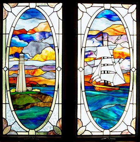 stained glass lighthouses images  pinterest light house lighthouse  lighthouses
