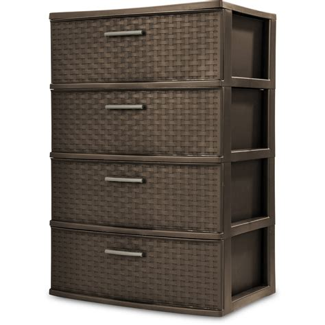 Drawer Containers by 4 Drawer Organizer Wide Storage Cart Bin Container Set Of