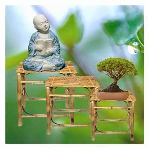 Gartenmöbel 3er Set : 3er set bambusbeistelltischchen gartenm bel garten japanwelt ~ Indierocktalk.com Haus und Dekorationen