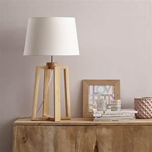 Lampe Sur Pied En Bois : pied de lampe sachi bois naturel 47 cm inspire leroy ~ Dailycaller-alerts.com Idées de Décoration