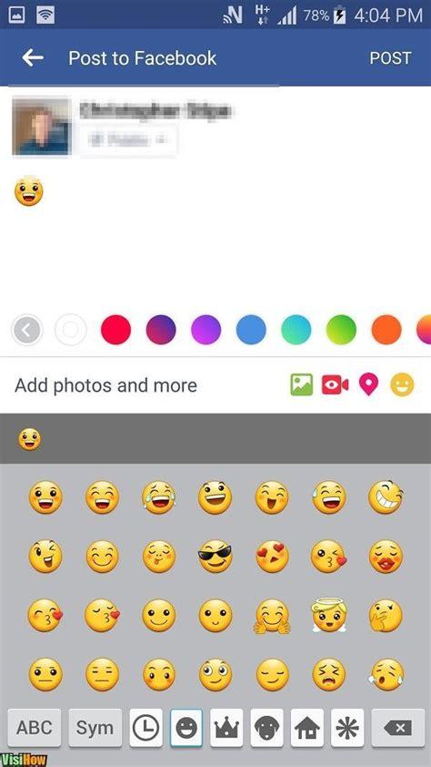 emoji   facebook status visihow