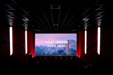 cinema screening room mock  mockup templates