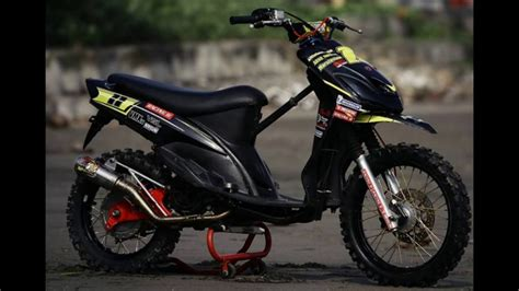 Motor Modifikasi by Modifikasi Motor Matik Yamaha Mio Modif Trail