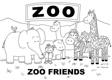 Zoo Coloring Page Image Clipart Images