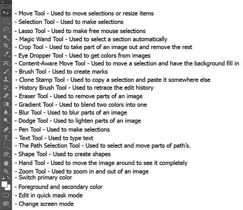 télécharger adobe photoshop toolbar definitions