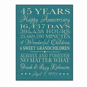 personalized 45th anniversary gift for by dayspringmilestones With 45th wedding anniversary gift ideas for parents