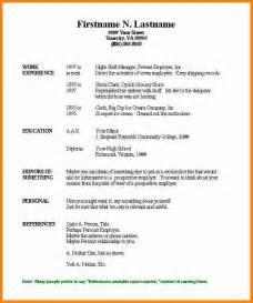 free basic resume outline easy resume template jianbochen com