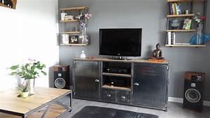 Sejour Style Industriel : appartement au style industriel bois et m tal ~ Teatrodelosmanantiales.com Idées de Décoration