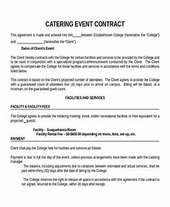 stunning banquet contract template pictures inspiration With wedding planner terms and conditions template